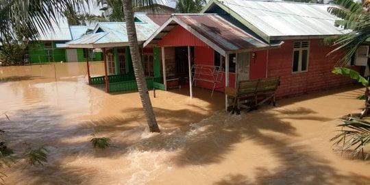 Banjir di Paser Rendam Ribuan Rumah