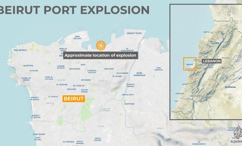 Dua Ledakan Besar Guncang Ibu Kota Libanon