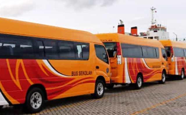 Kaltim Dapat Bantuan Empat Bus Sekolah